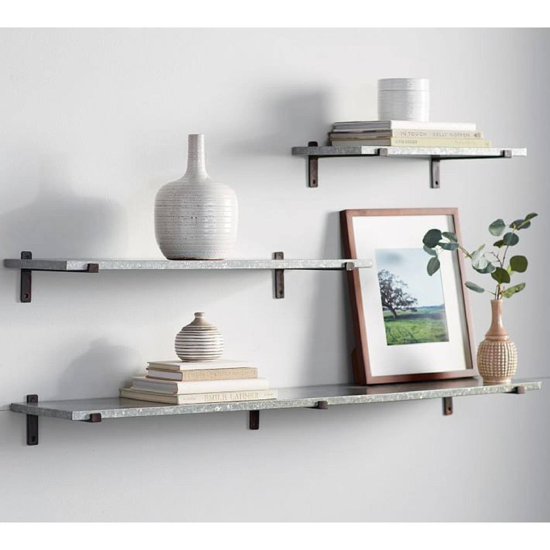 Pottery Barn Galvanized Shelves - image-3
