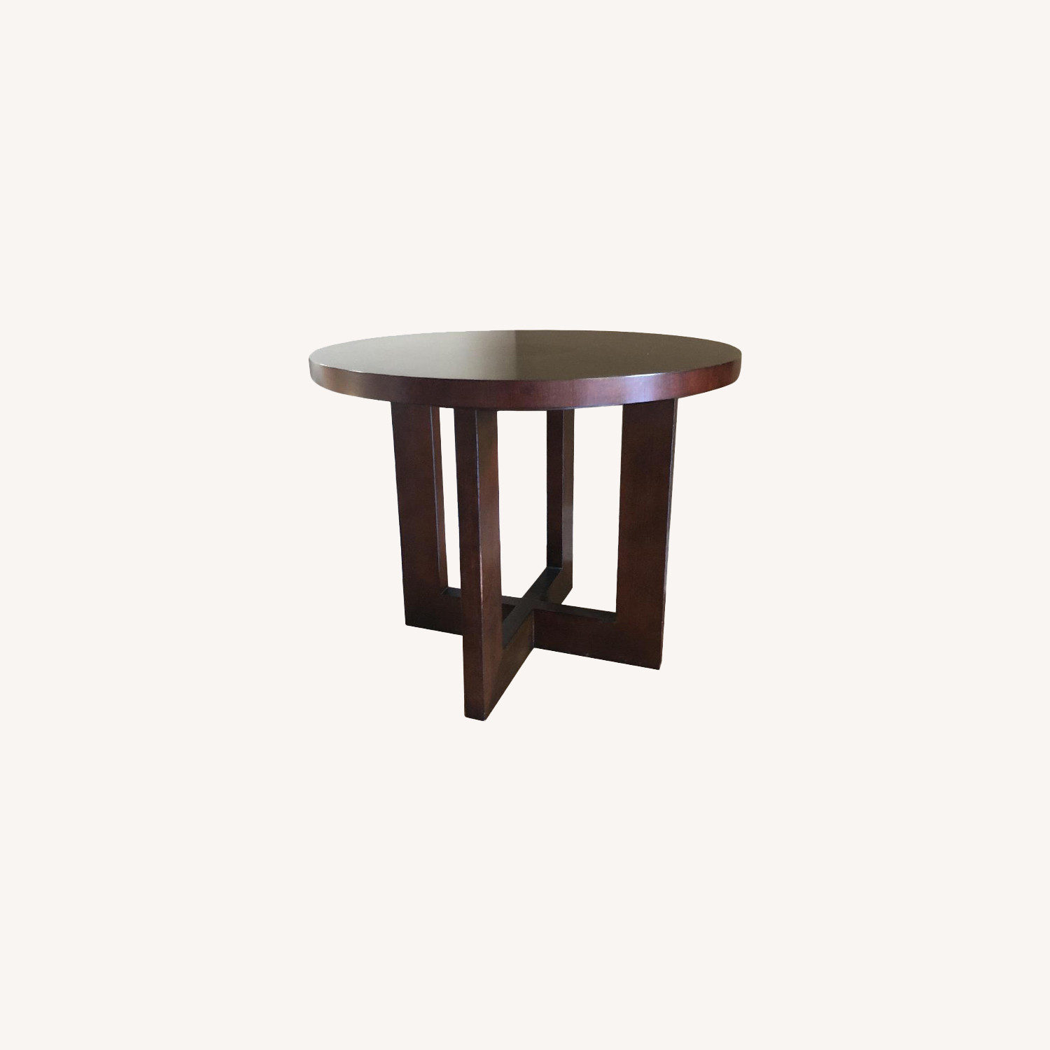 Ethan Allen Round Wooden Side Table