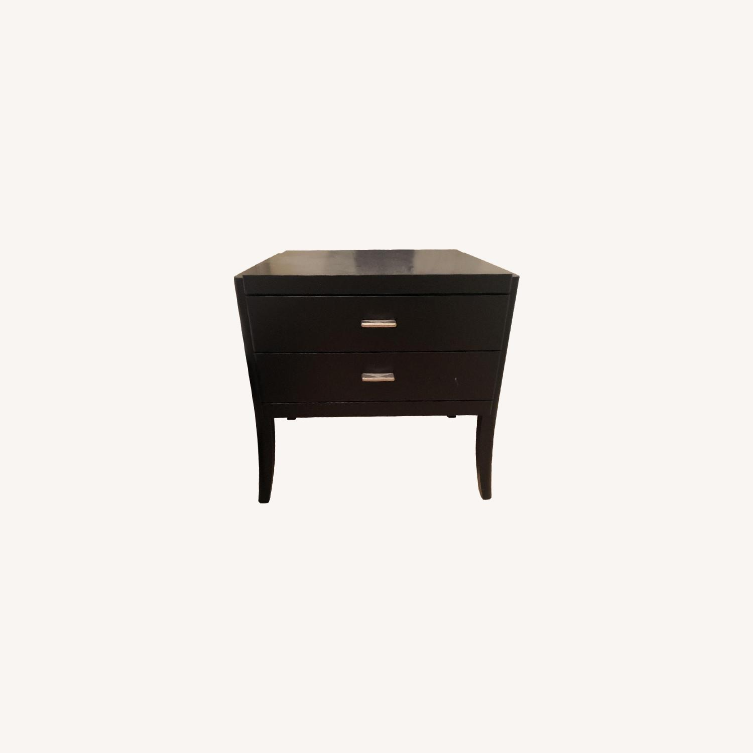 Black Wood Nightstands - image-0