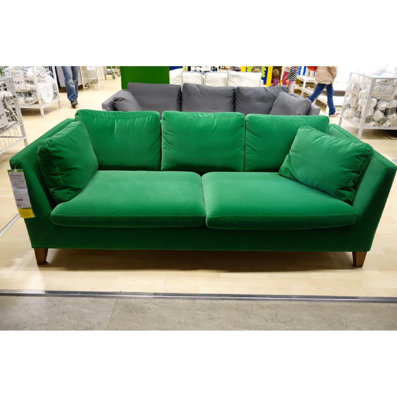 Super Ikea Stockholm Green Velvet Sofa Aptdeco Machost Co Dining Chair Design Ideas Machostcouk