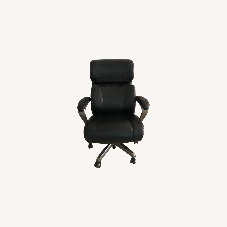 Ikea Desk & La-Z-Boy Leather Office Chair