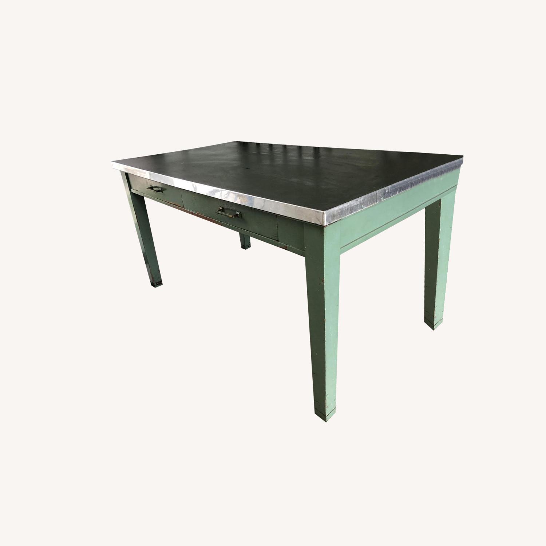 1950's Wood Farm Table/Desk