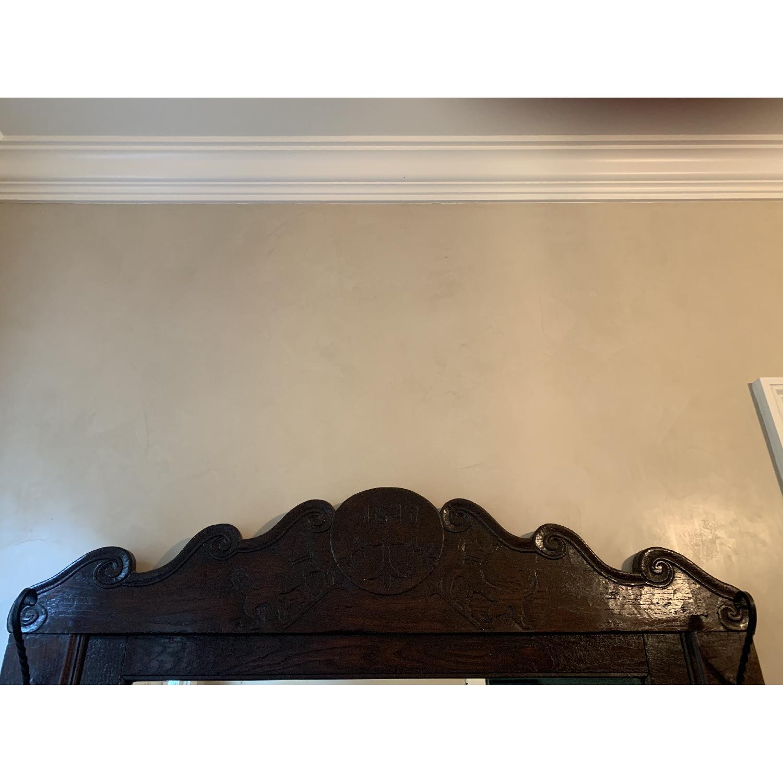 ABC Home Antique Entryway Mirrored Coat Rack & Umbrella Sand - image-1