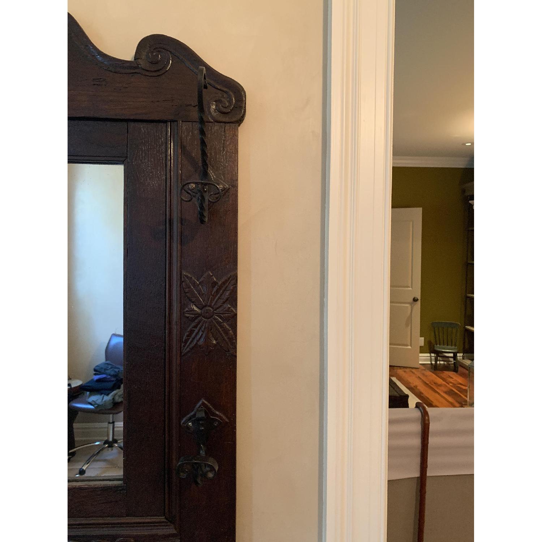 ABC Home Antique Entryway Mirrored Coat Rack & Umbrella Sand - image-4