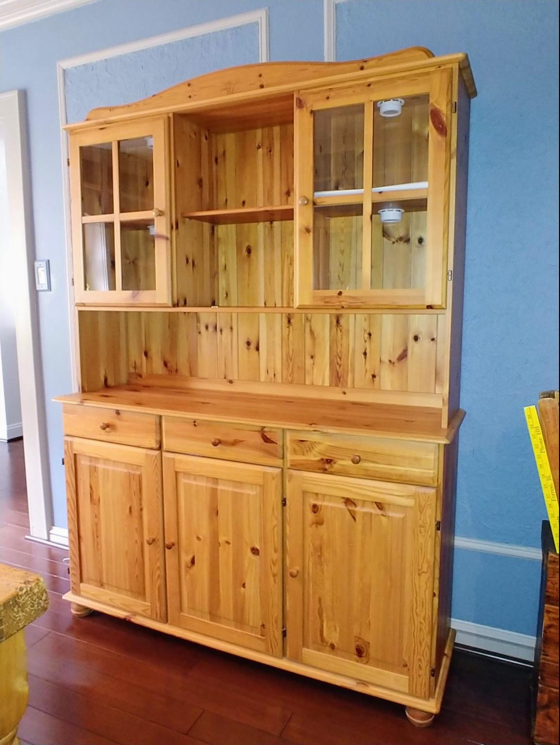 Ikea Wood Buffet w/ Hutch