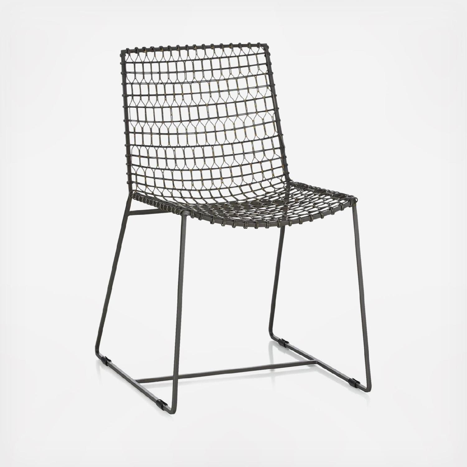 Crate & Barrel Tig Metal Dining Chairs - image-0