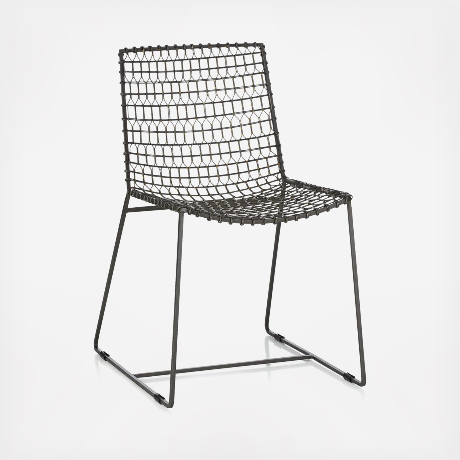 Crate & Barrel Tig Metal Dining Chairs