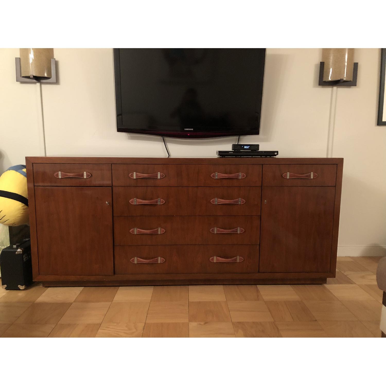 Ralph Lauren Wood Dresser w/ Leather Pulls - image-1