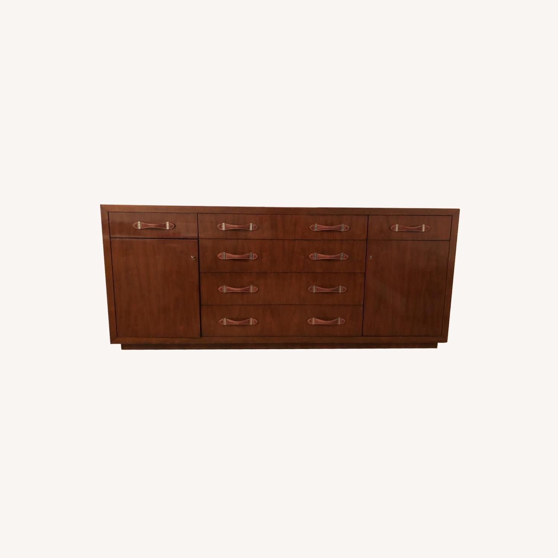 Ralph Lauren Wood Dresser w/ Leather Pulls - image-0