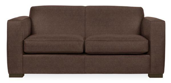 Room & Board Ian Leather Sofa Mocha