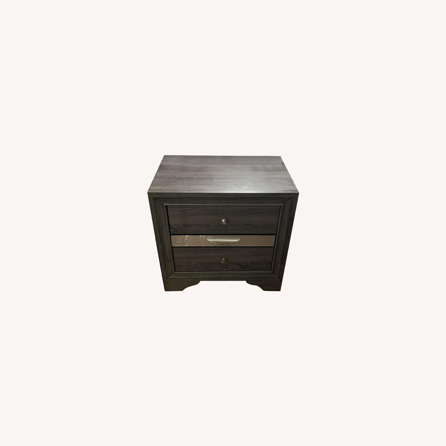 Grey Wood Nightstand