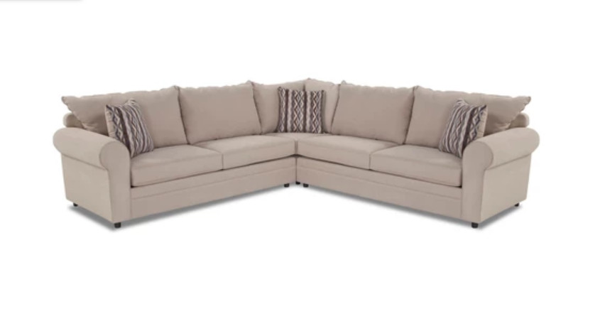 Bob\'s Venus Dune 3 Piece Sectional Sofa - AptDeco