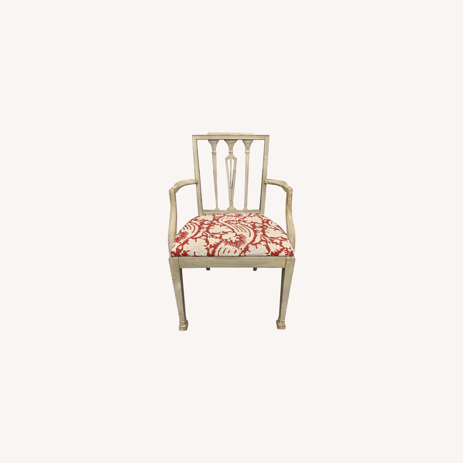 Gustavian Style Gray Painted Dining Chairs