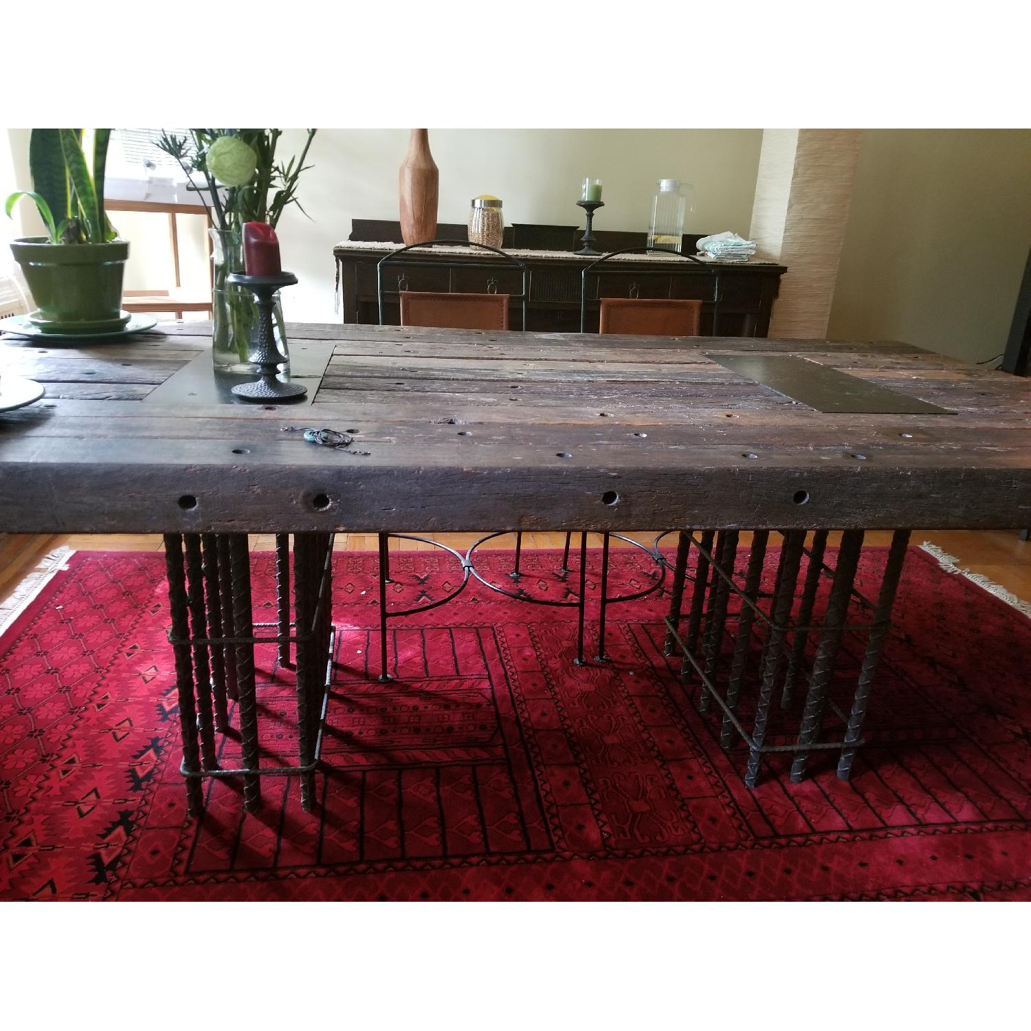 Environment Furniture Brazilian Peroba Dining Table w/ Rebar