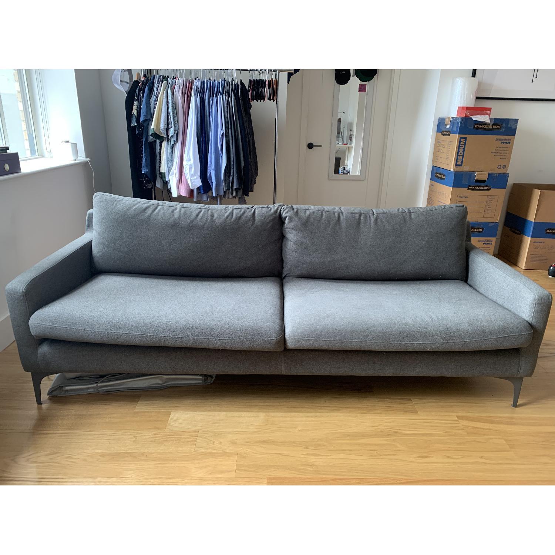 Grey Fabric Sofa - image-1