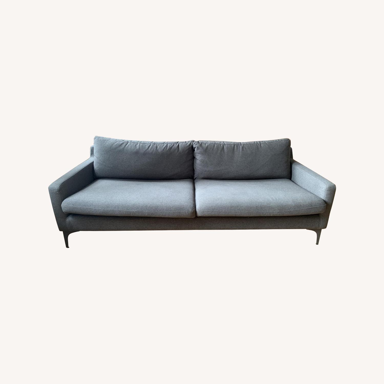 Grey Fabric Sofa - image-0
