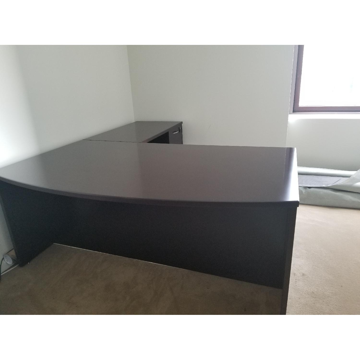 Solid Wood Executive Desk - image-1