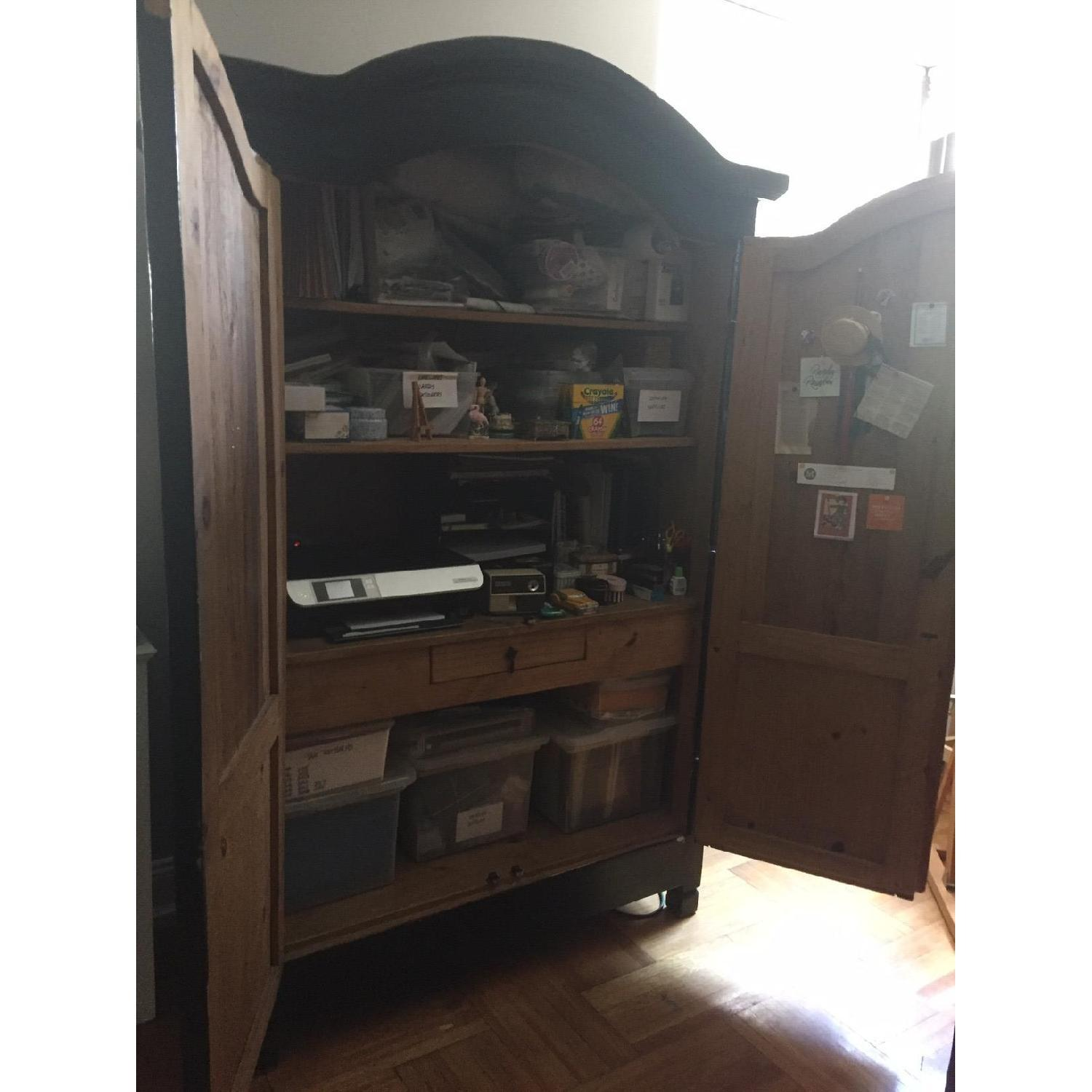 Pottery Barn Black Lacquer Armoire - image-2