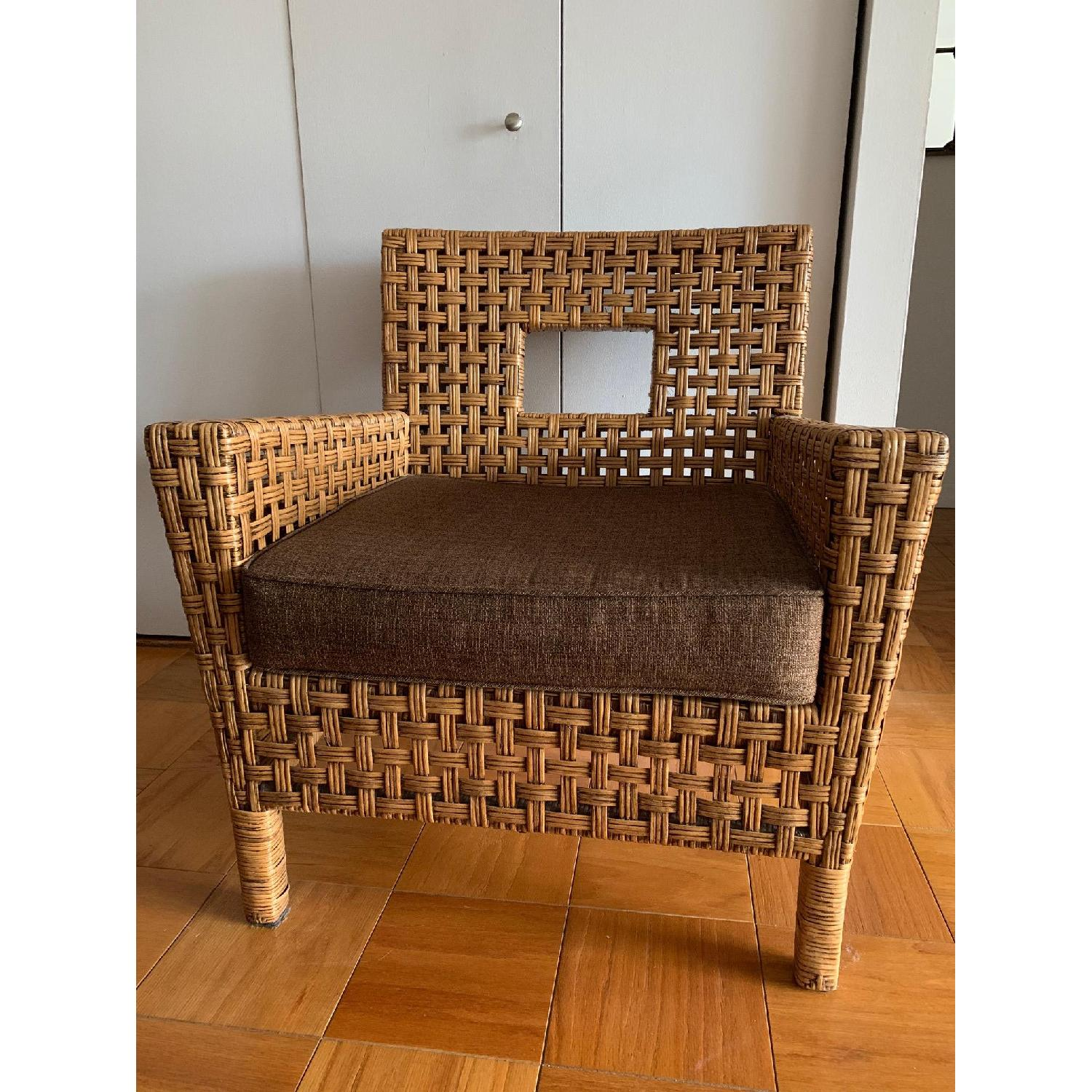 Pier 1 Wicker Chairs w/ Removable Cushions - image-1