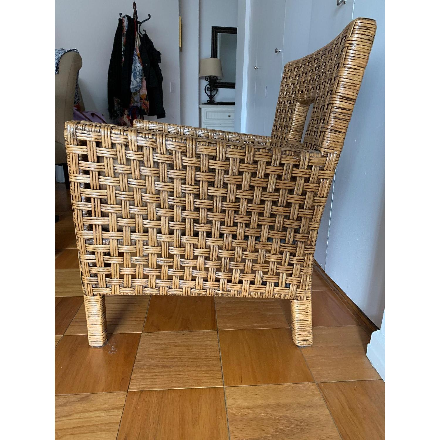Pier 1 Wicker Chairs w/ Removable Cushions - image-2