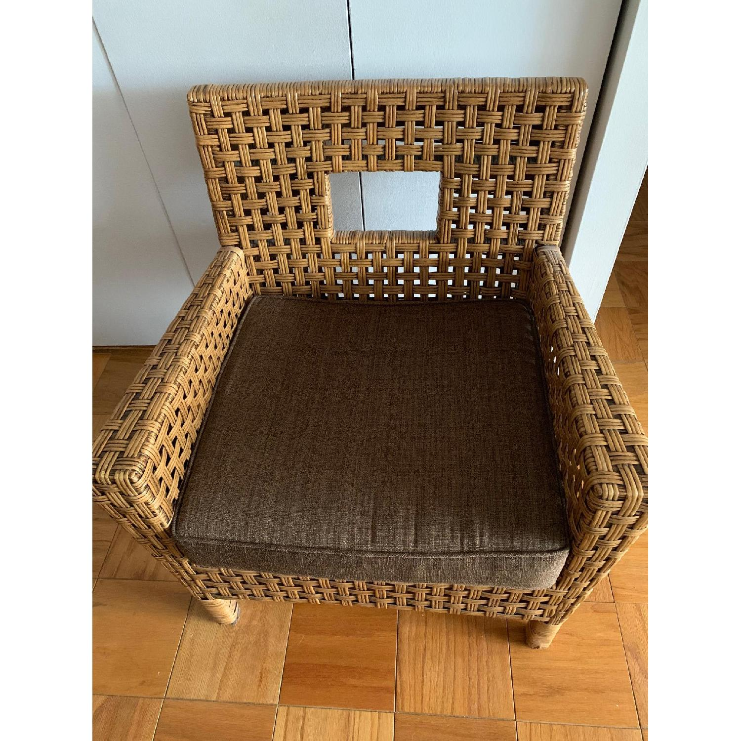 Pier 1 Wicker Chairs w/ Removable Cushions - image-4
