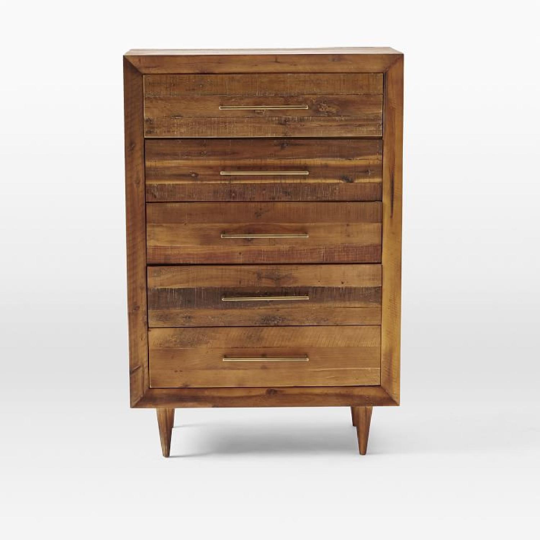 West Elm Alexa 5 Drawer Dresser in Light Honey - image-3