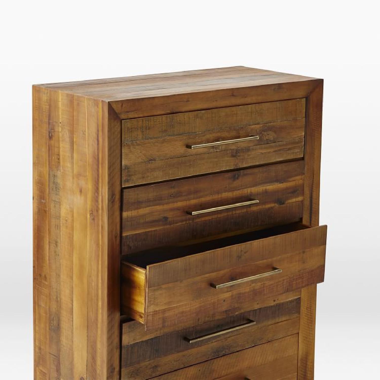 West Elm Alexa 5 Drawer Dresser in Light Honey - image-4