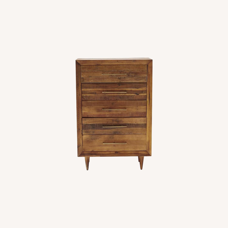 West Elm Alexa 5 Drawer Dresser in Light Honey - image-0