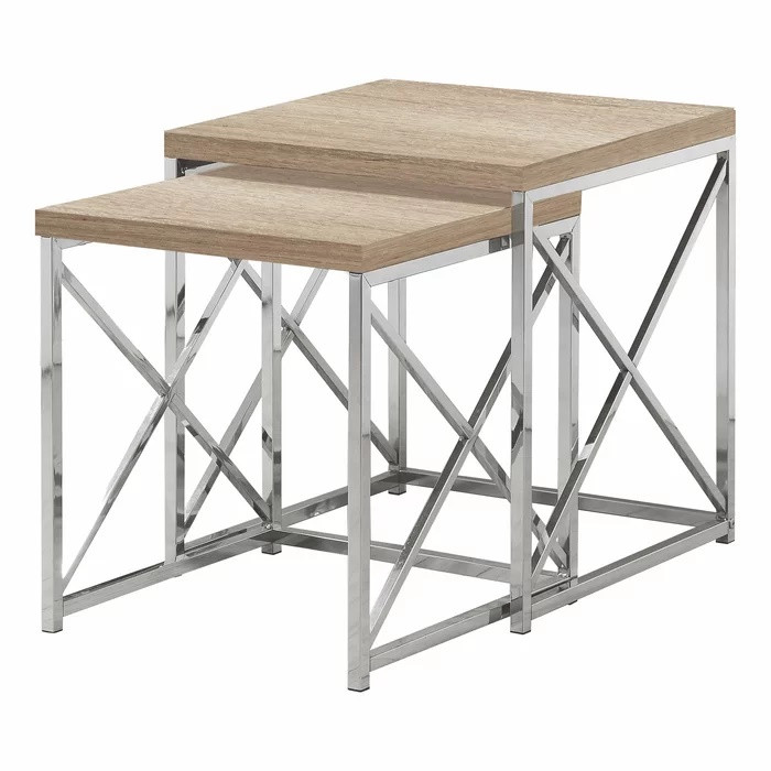 Ivy Bronx Baeza 2 Piece Nesting Tables