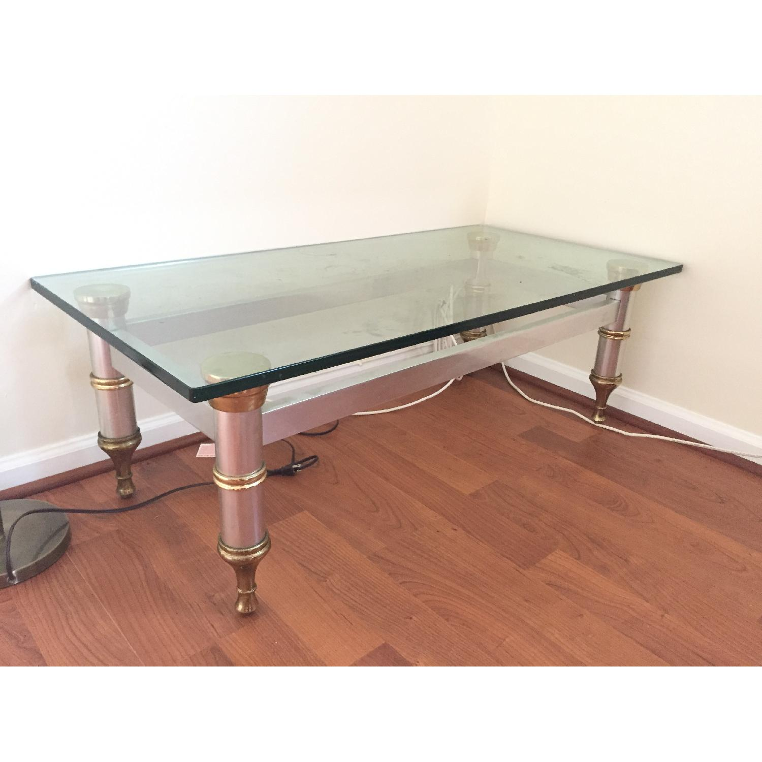 Glass Topped Coffee Table - image-1
