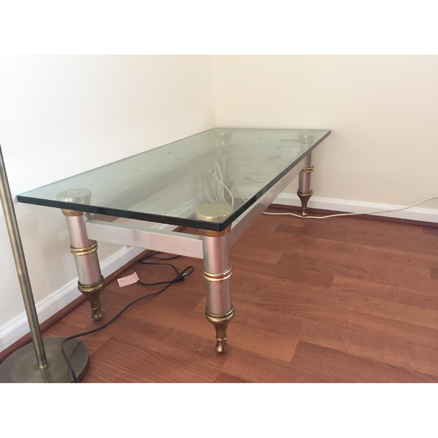 Glass Topped Coffee Table - image-3