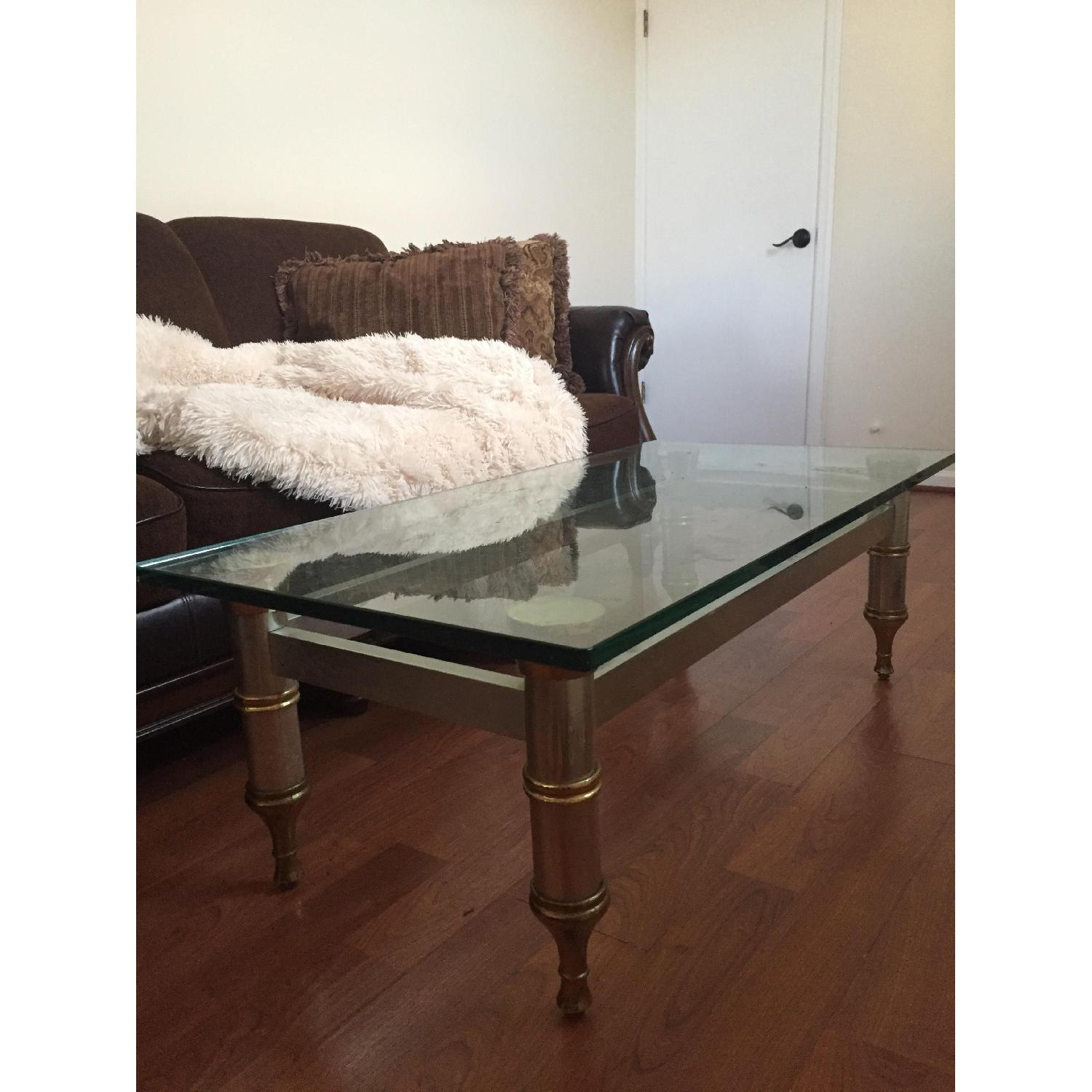 Glass Topped Coffee Table - image-6