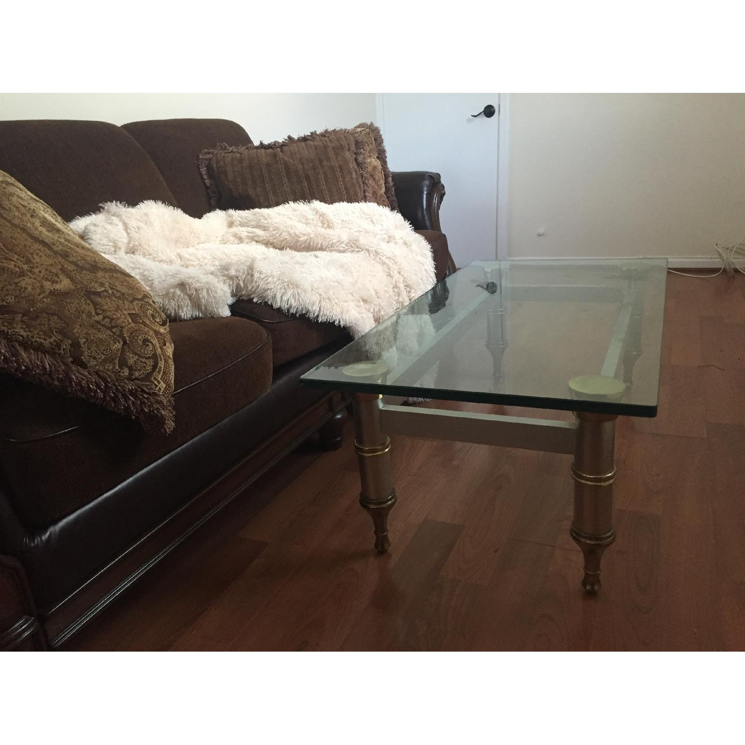 Glass Topped Coffee Table - image-5