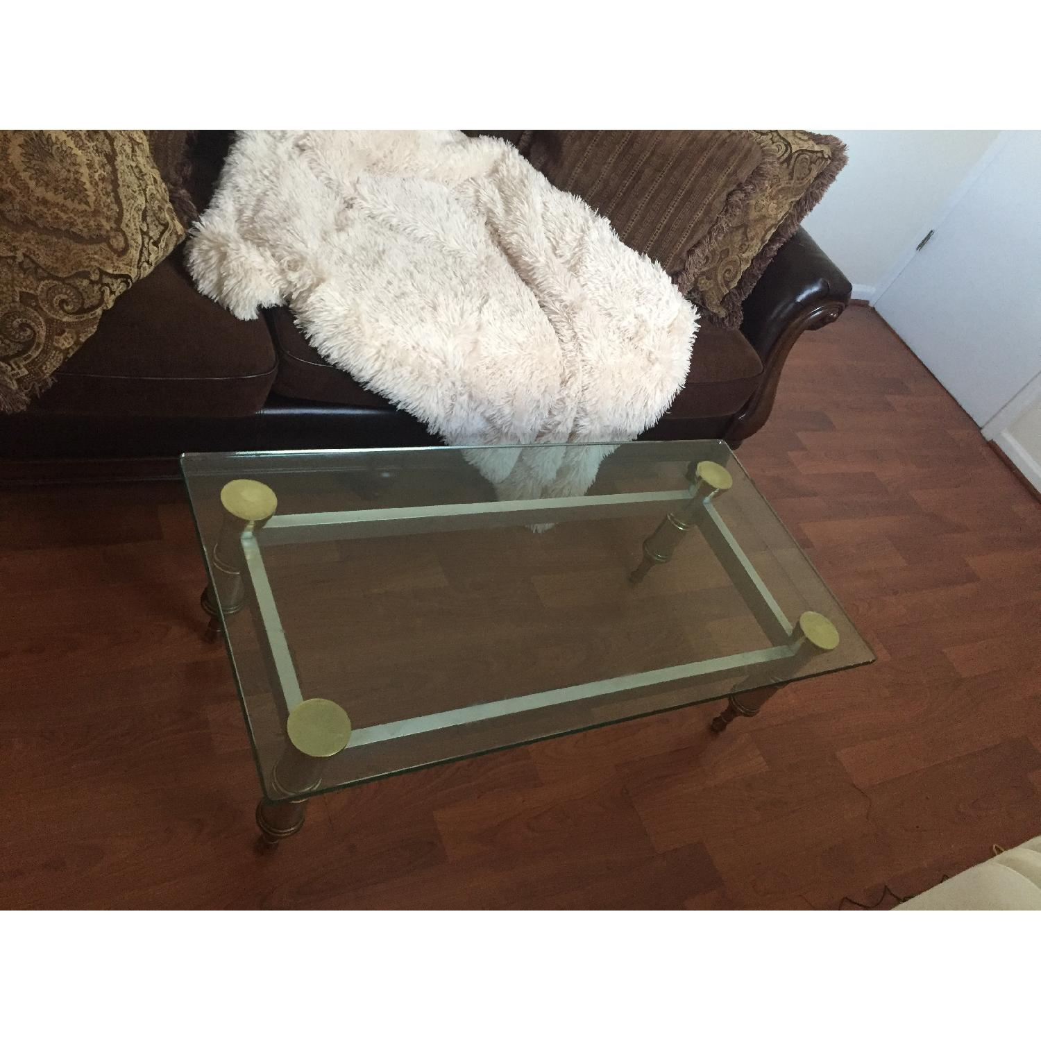 Glass Topped Coffee Table - image-7
