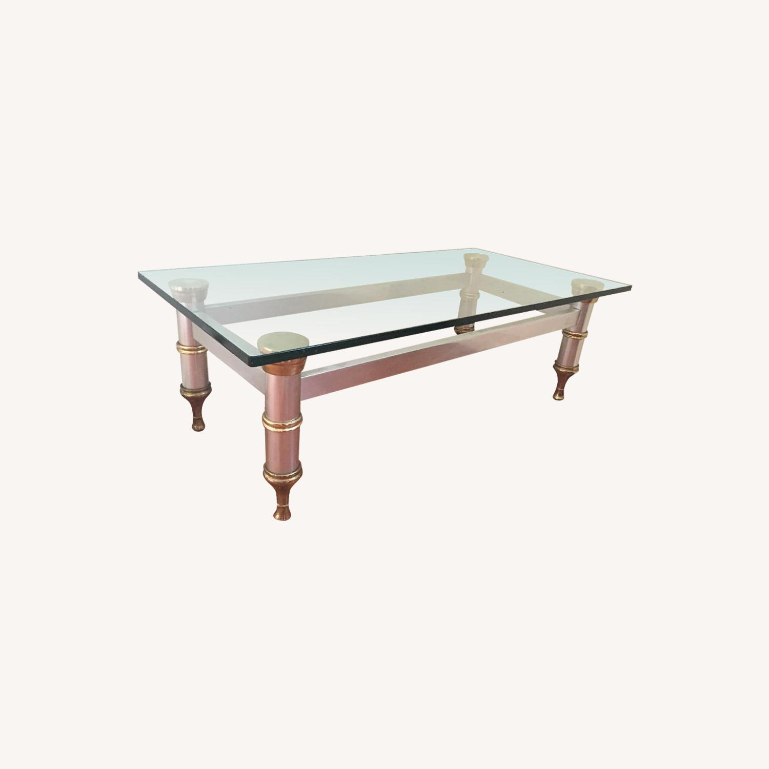 Glass Topped Coffee Table - image-0
