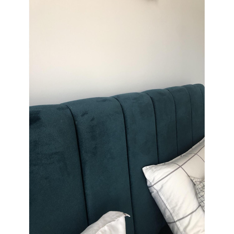 One Kings Lane Delmar Channel Bed in Peacock Velvet - image-2
