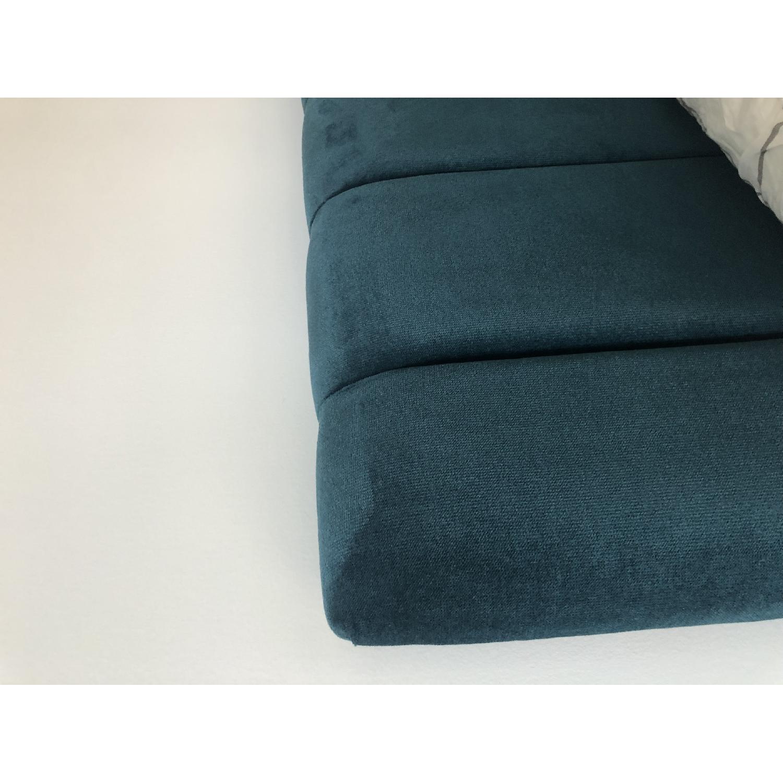 One Kings Lane Delmar Channel Bed in Peacock Velvet - image-3