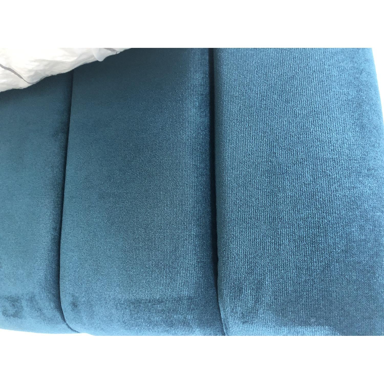 One Kings Lane Delmar Channel Bed in Peacock Velvet - image-7