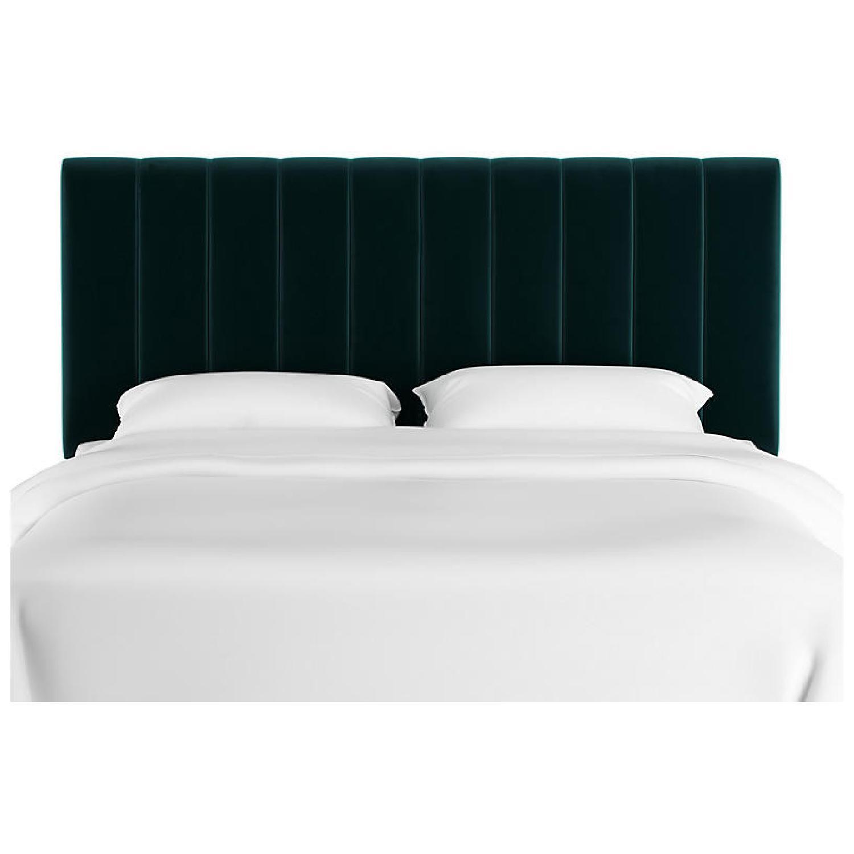 One Kings Lane Delmar Channel Bed in Peacock Velvet - image-8