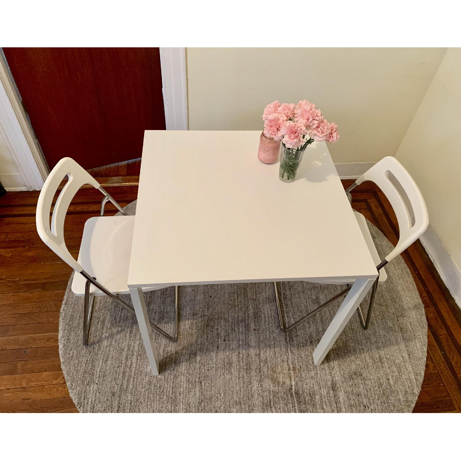 Ikea Square White Dining Table - image-1