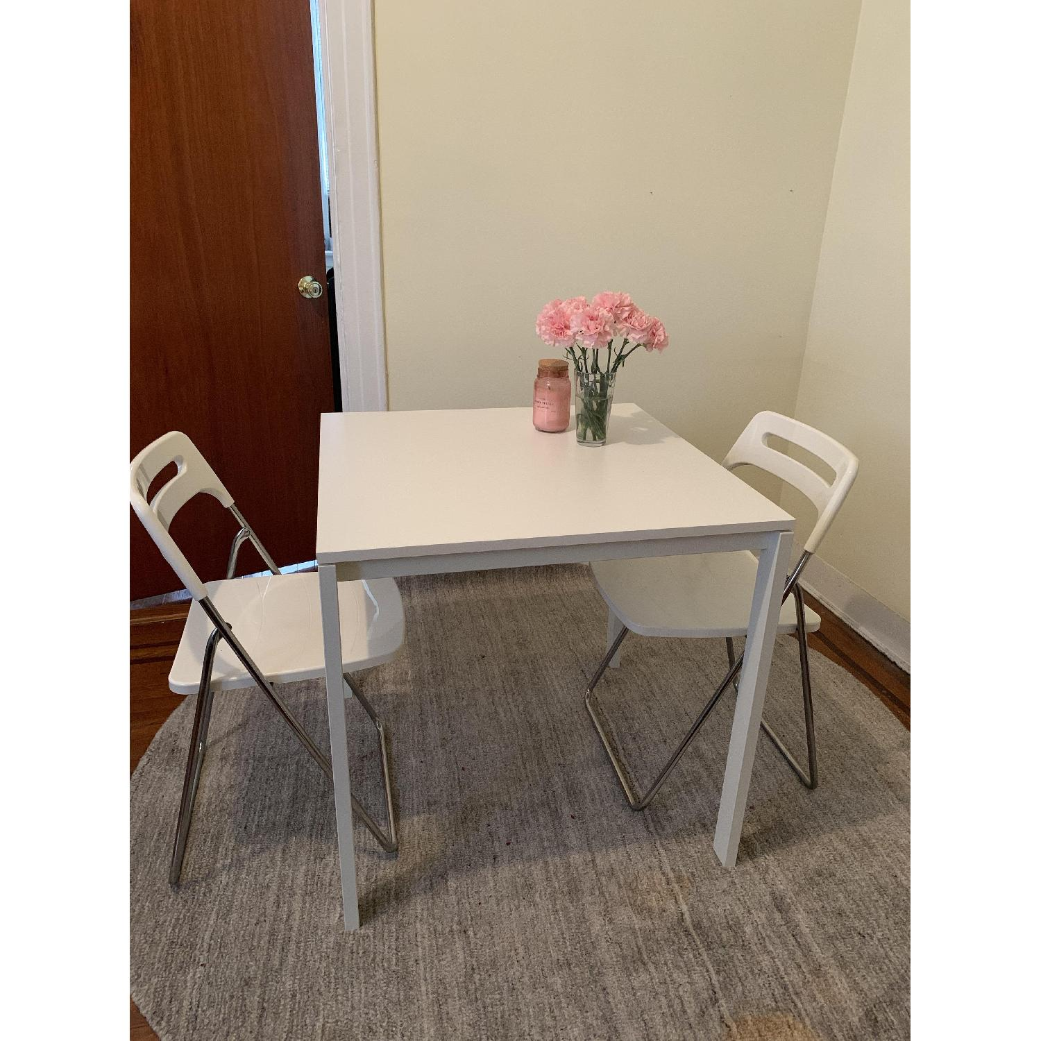Ikea Square White Dining Table - image-2