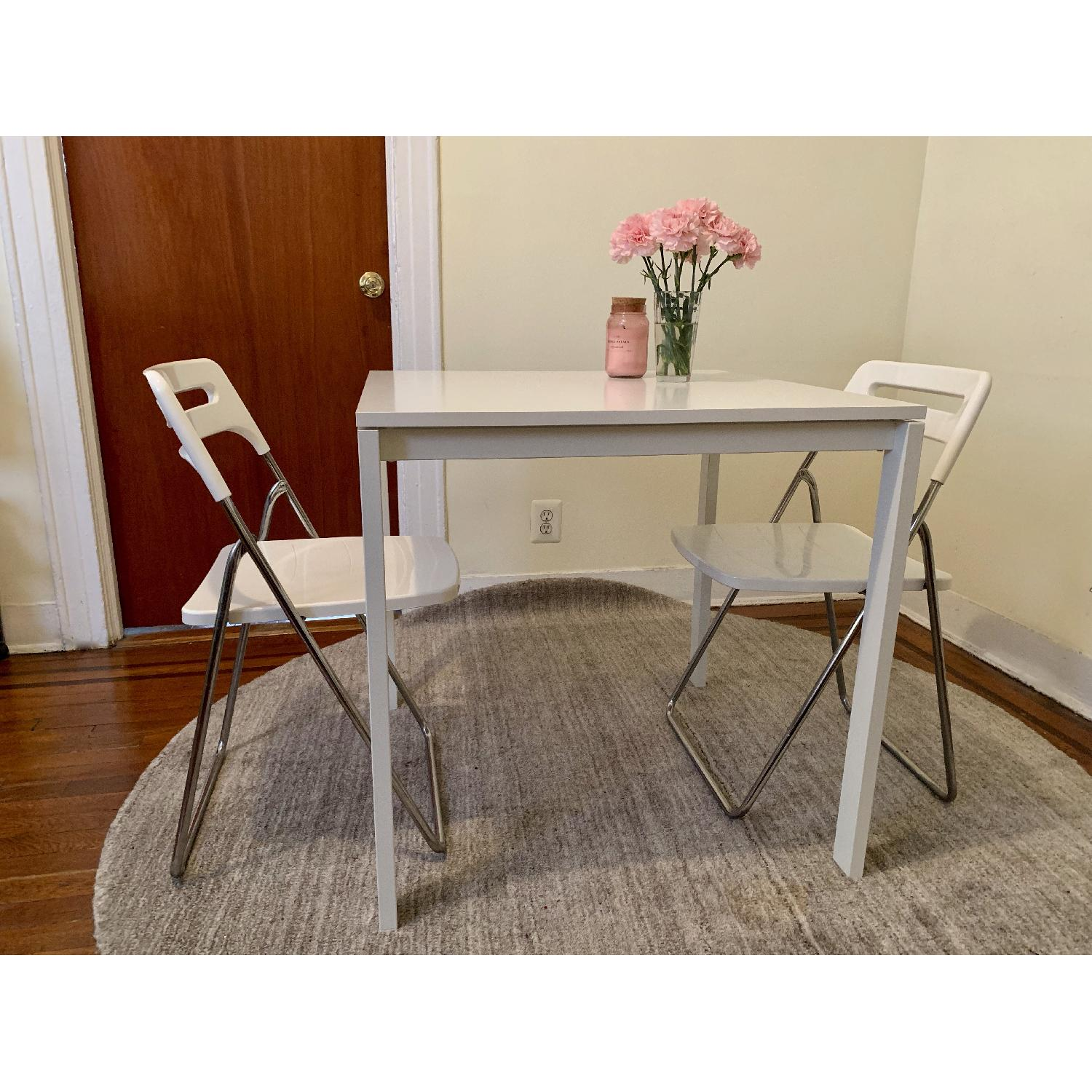 Ikea Square White Dining Table - image-3