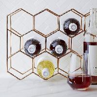 Crate & Barrel 11-Bottle Wine Rack in Copper