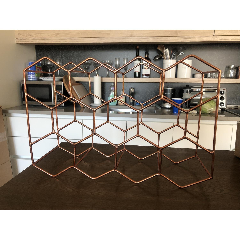 Crate & Barrel 11-Bottle Wine Rack in Copper - image-5