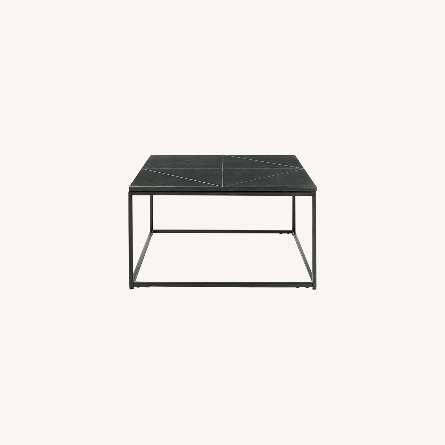 West Elm Etched Granite Coffee Table