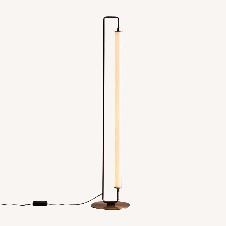 West Elm Linear Metal LED Floor Lamp in Burnished Bronze
