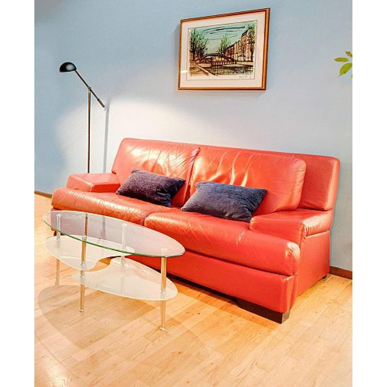 Red 2-Seater Sofa - image-0