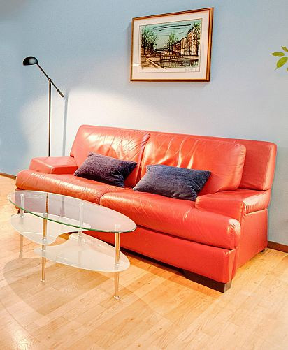 Red 2-Seater Sofa