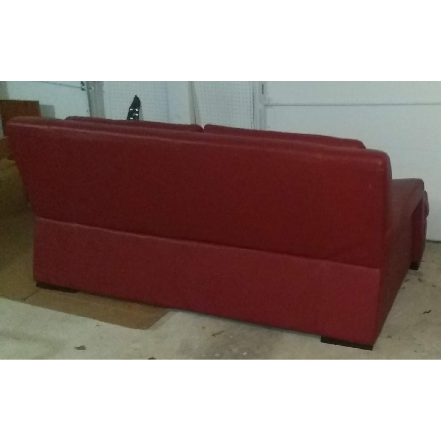 Red 2-Seater Sofa - image-1