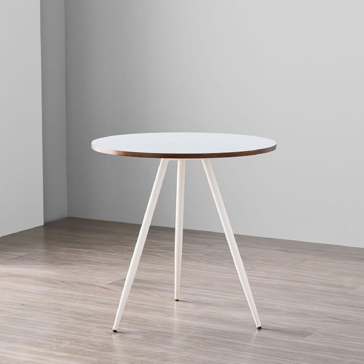 West Elm Wren Bistro Table in White - image-1